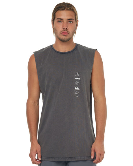 BLACK MENS CLOTHING QUIKSILVER SINGLETS - EQYZT04762KVJ0
