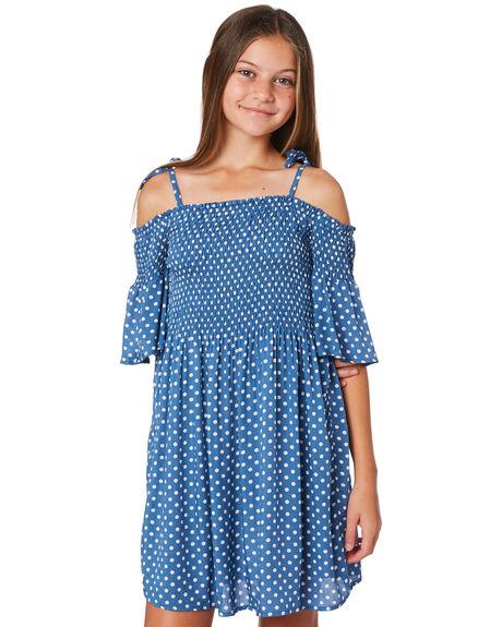 BLUE WHITE SPOT KIDS GIRLS EVES SISTER DRESSES + PLAYSUITS - 9520068BLU