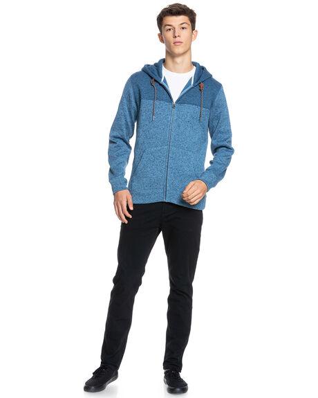 CAPTAINS BLUE HEATHE MENS CLOTHING QUIKSILVER JUMPERS - EQYFT04013-BMEH