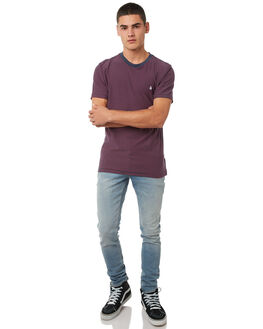 ANGLED BLEACH WASH MENS CLOTHING VOLCOM JEANS - A1931610ABW