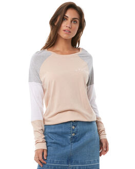 PALE PINK WOMENS CLOTHING ELWOOD TEES - W82115AD1