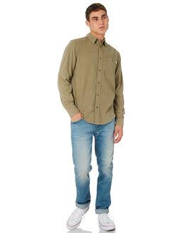 OLIVE MENS CLOTHING RHYTHM SHIRTS - OCT18M-WT01-OLI