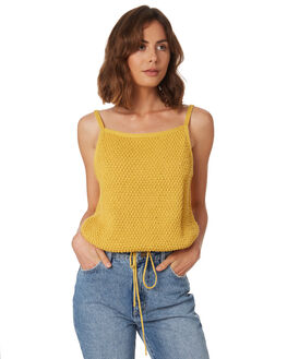 YELLOW SOLID WOMENS CLOTHING RUE STIIC FASHION TOPS - WS18-44-Y-CYEL