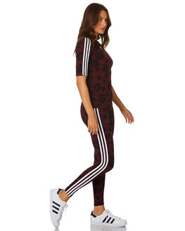 MAROON BLACK WOMENS CLOTHING ADIDAS TEES - EC1913MRNBK