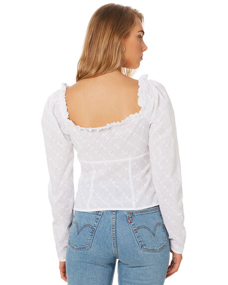 WHITE VINES OUTLET WOMENS THE EAST ORDER FASHION TOPS - EO190923TWHT