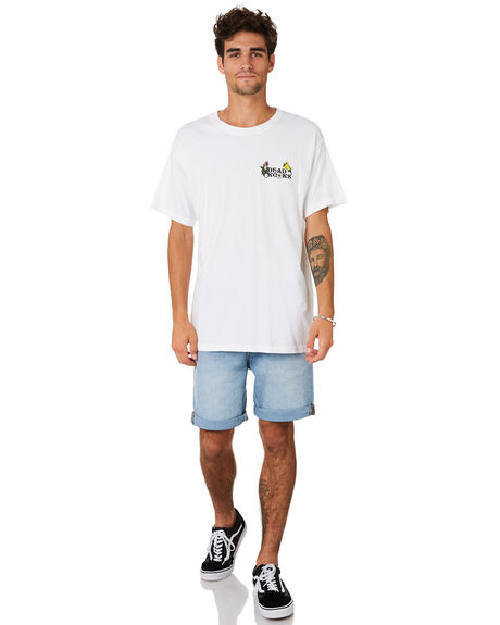 WHITE MENS CLOTHING DEAD KOOKS TEES - DKSTEE44WHT