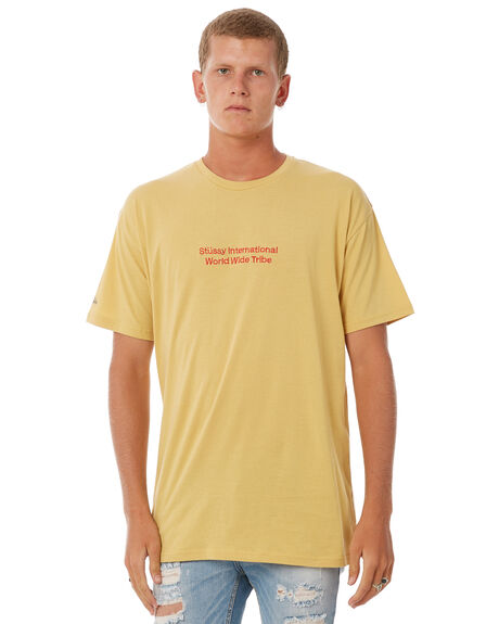 DIRTY YELLOW MENS CLOTHING STUSSY TEES - ST073030DYLW