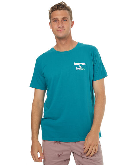TEAL MENS CLOTHING KATIN TEES - TSSSKOO17TEA
