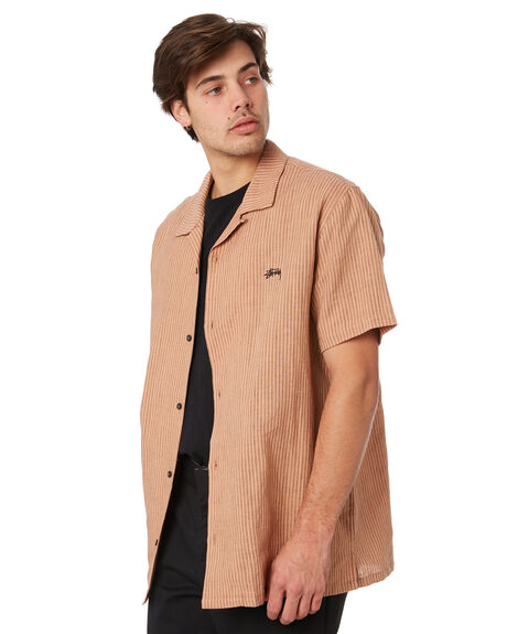 TAN MENS CLOTHING STUSSY SHIRTS - ST092401TAN