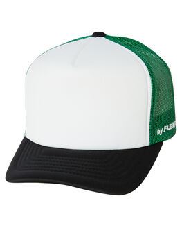 BLACK GREEN KIDS BOYS FLEX FIT HEADWEAR - 163Y201-BGRN-YTH