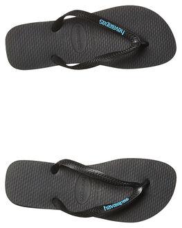 BLACK BLUE MENS FOOTWEAR HAVAIANAS THONGS - HRLL2689BKBL