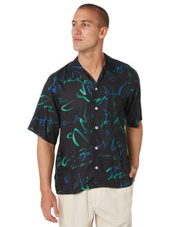 BLACK MENS CLOTHING POLAR SKATE CO. SHIRTS - PSCART-BLK