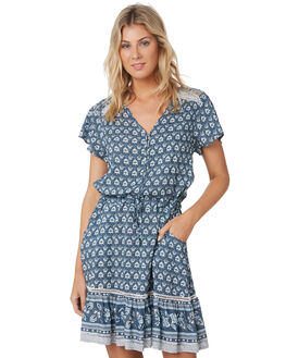 SLATE BLUE WOMENS CLOTHING RIP CURL DRESSES - GDRCK91115