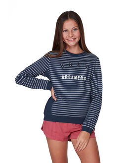 MOOD INDIGO STRIPE KIDS GIRLS ROXY JUMPERS + JACKETS - ERGFT03411-BSP4