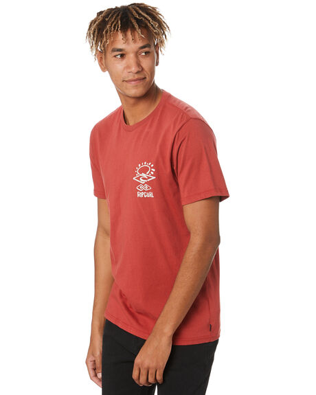 WASHED RED MENS CLOTHING RIP CURL TEES - CTEQS99199