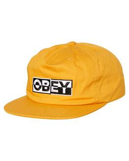 MINERAL YELLOW MENS ACCESSORIES OBEY HEADWEAR - 100570095MRL
