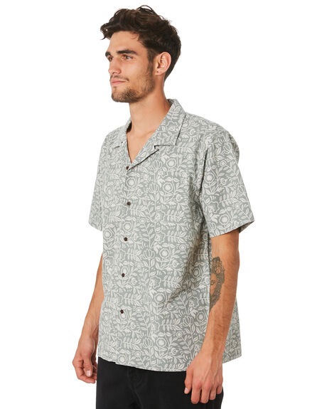 GRY GREEN MENS CLOTHING KATIN SHIRTS - WVLEA04GRGRN