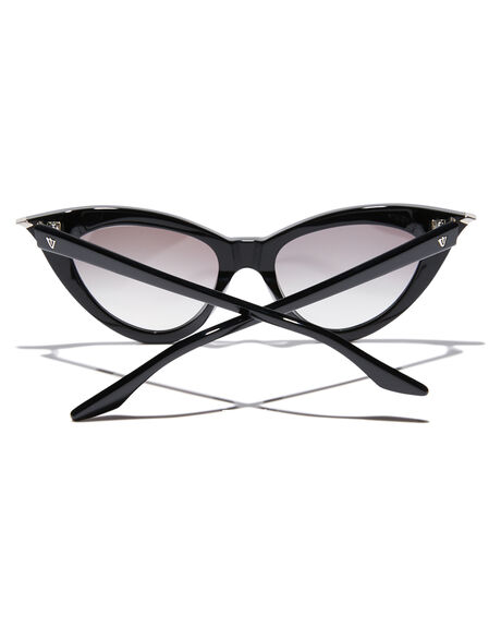 GLOSS BLACK WOMENS ACCESSORIES VALLEY SUNGLASSES - S0469GBLK