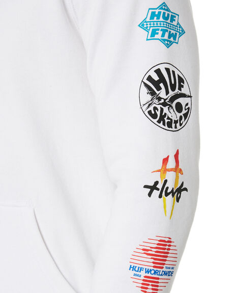 WHITE MENS CLOTHING HUF JUMPERS - PF00144-WHT