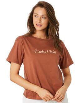 TURMERIC WOMENS CLOTHING COOLS CLUB TEES - 104-CW4TURM