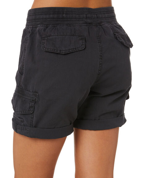 WASHED BLACK WOMENS CLOTHING SWELL SHORTS - S8201194WBLK