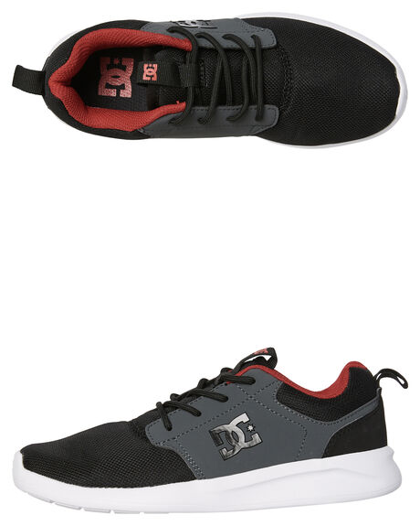 BLACK RED KIDS BOYS DC SHOES SNEAKERS - ADBS700059BLR