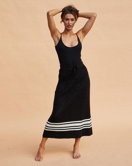 BLACK WOMENS CLOTHING SNDYS FASHION TOPS - SEBS239BLK