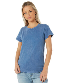 WASHED CADET BLUE WOMENS CLOTHING SWELL TEES - S8183001WSCBL