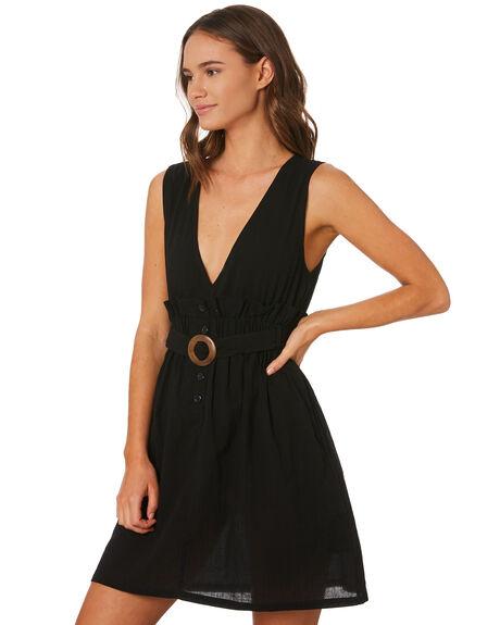 BLACK WOMENS CLOTHING LILYA DRESSES - CGRD85BLK