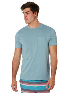 DUSTY BLUE MENS CLOTHING RIP CURL TEES - CTESY23458