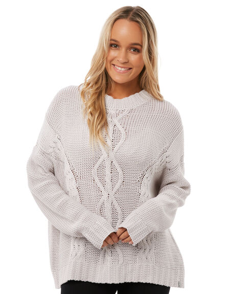 NATURAL WOMENS CLOTHING RHYTHM KNITS + CARDIGANS - KNW00W-KN02NAT