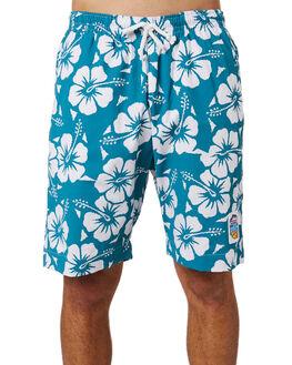 TEAL MENS CLOTHING OKANUI BOARDSHORTS - OKBOHBTLTEAL