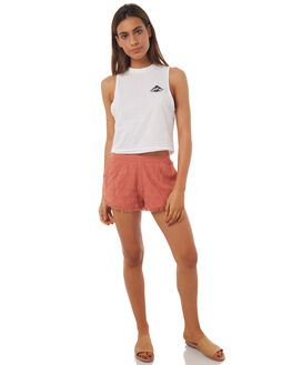 WHITE WOMENS CLOTHING BILLABONG SINGLETS - 6572194WHT