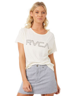 VINTAGE WHITE WOMENS CLOTHING RVCA TEES - R281692VWH