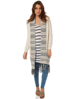 CREAM WOMENS CLOTHING RIP CURL KNITS + CARDIGANS - GSWEW10082