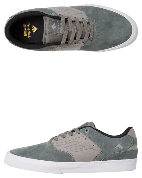 DARK GREY MENS FOOTWEAR EMERICA SKATE SHOES - 6102000096-076