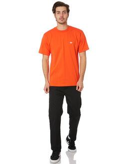 ACTIVE ORANGE WHITE MENS CLOTHING ADIDAS TEES - EC7380ACORG