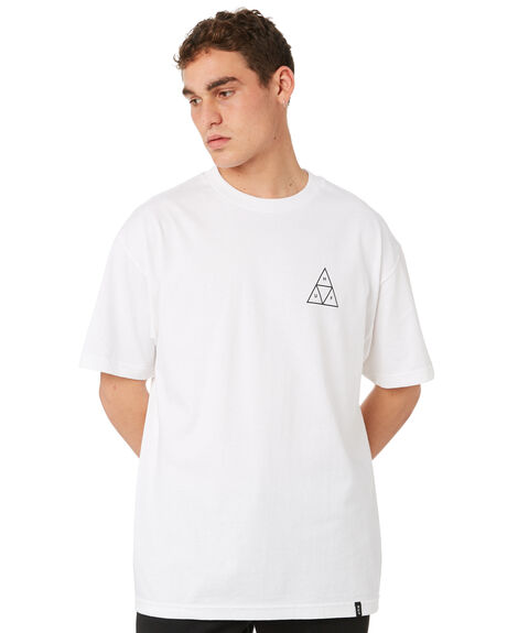 WHITE MENS CLOTHING HUF TEES - TS00509-WHITE