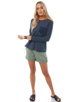 DRESS BLUES WOMENS CLOTHING ROXY TEES - ERJKT03366BTK0