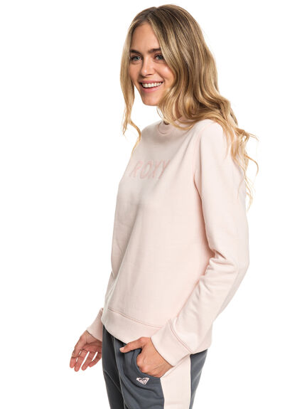 CLOUD PINK WOMENS CLOTHING ROXY JUMPERS - ERJFT03943-MCW0