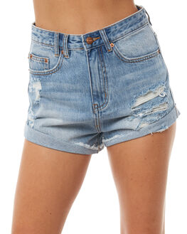 DESTROYED BLUE WOMENS CLOTHING INSIGHT SHORTS - 1000065485DESTBL