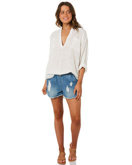 WHITE WOMENS CLOTHING RIP CURL FASHION TOPS - GSHZM31000