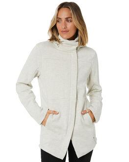 OATMEAL HEATHER WOMENS CLOTHING HURLEY JACKETS - CI3407141