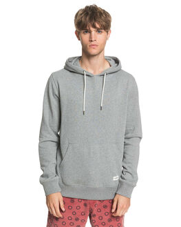 LIGHT GREY HEATHER MENS CLOTHING QUIKSILVER JUMPERS - EQYFT04081-SJSH