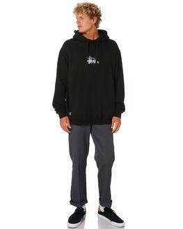 BLACK MENS CLOTHING STUSSY JUMPERS - ST005203BLK