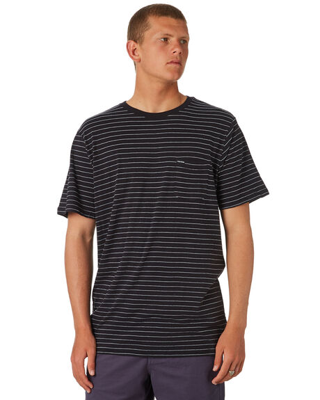 BLACK MENS CLOTHING VOLCOM TEES - A01118R0BLK