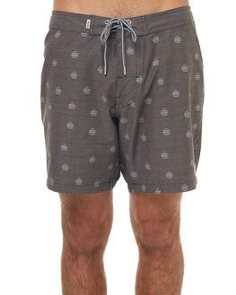 VINTAGE BLACK MENS CLOTHING RHYTHM BOARDSHORTS - JAN18M-TR02BLK