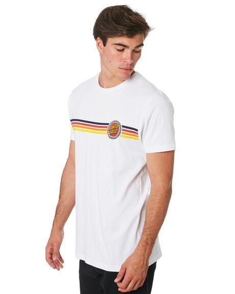 WHITE MENS CLOTHING SANTA CRUZ TEES - SC-MTC9334WHT