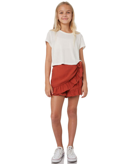 RUST KIDS GIRLS EVES SISTER SHORTS + SKIRTS - 9541014RED