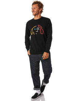BLACK MENS CLOTHING THE CRITICAL SLIDE SOCIETY KNITS + CARDIGANS - KT1822BLK